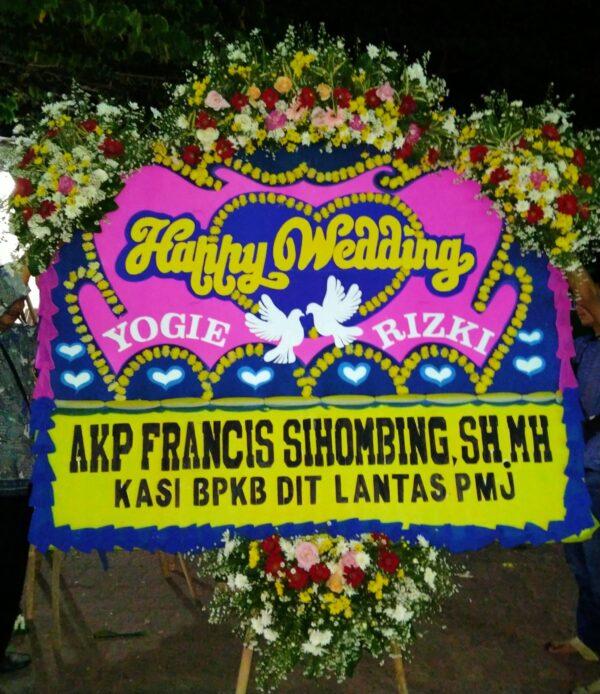 Papan Bunga Happy Wedding