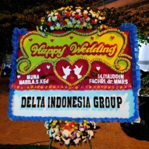Papan Bunga Selamat Pernikahan