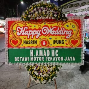 Ucapan Wedding Papan Bunga